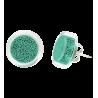 Cachou Billes - Boucles d'oreilles clou Turquoise