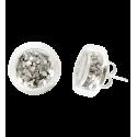 Cachou Paillettes - Boucles d'oreilles clou Silber