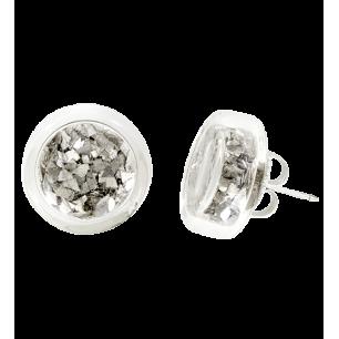 Cachou Paillettes - Boucles d'oreilles clou