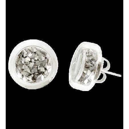 Boucles d'oreilles clou - Cachou Paillettes