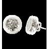 Cachou Paillettes - Boucles d'oreilles clou Argent