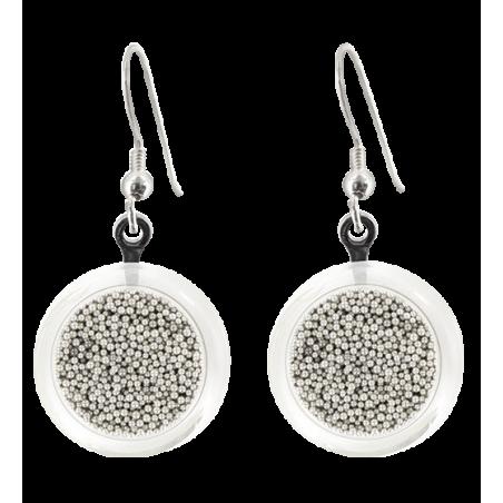 Cachou Billes - Boucles d'oreilles crochet