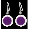 Cachou Billes - Boucles d'oreilles crochet Violett