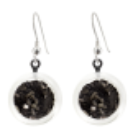 Cachou Paillettes - Boucles d'oreilles crochet Noir