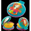 Spazzola per capelli con specchio - Lady Retro Bambini