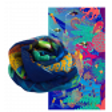 Scarf - Balade Camouflage Camouflage Blue