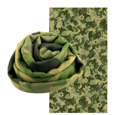 Scarf - Balade Camouflage - Camouflage Green