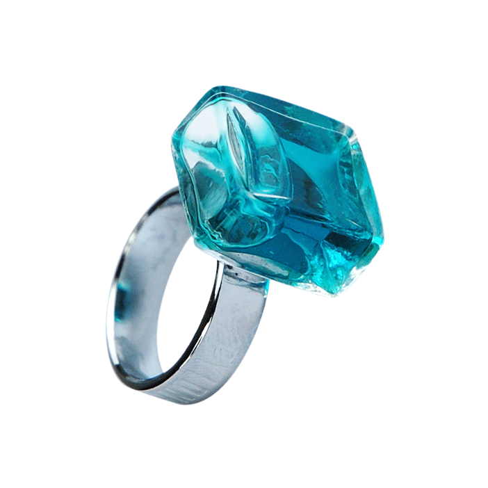Glass ring - Carré Mini Transparent