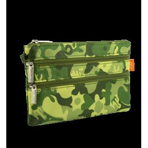 Täschchen mit 3 Reißverschlüssen - Zip It Camouflage - Camouflage Green
