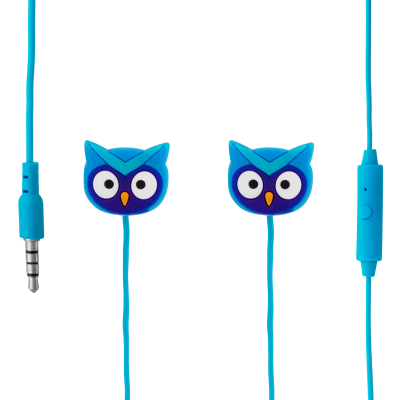Earphones with integrated microphone - Swing - Owl