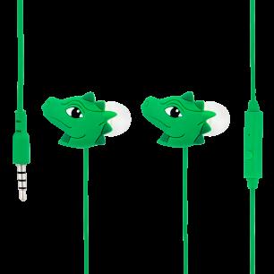 Earphones with integrated microphone - Swing - Dragon Vert