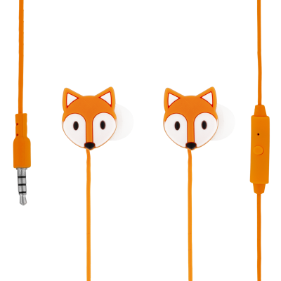 Earphones with integrated microphone - Swing - Fox