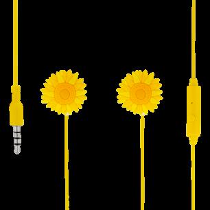 Ecouteurs avec micro intégré - Swing - Fleur