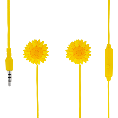 Earphones with integrated microphone - Swing - Flower