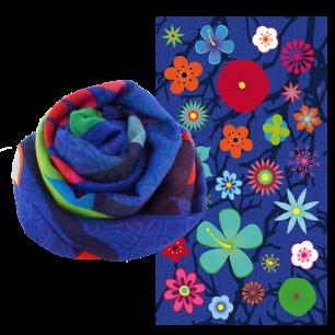 Foulard / paréo - Balade - Blue Flower