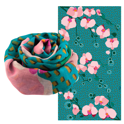 Scarf - Balade - Orchid Blue
