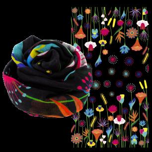 Foulard / paréo - Balade - Jardin fleuri