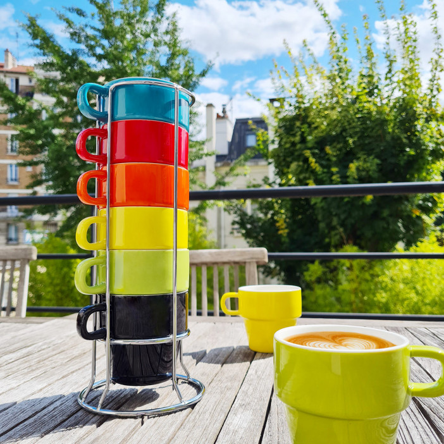 Cappucino stacking cups - Café Cino