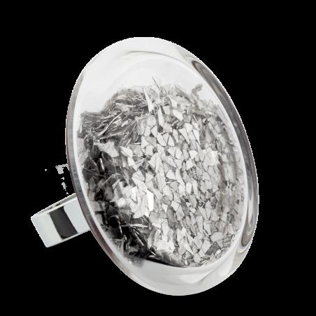 Glass ring - Cachou Giga Paillettes