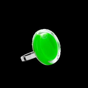 Bague en verre soufflée - Cachou Nano Milk