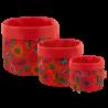 Set de 3 paniers gigognes multi-usages - Panier Coquelicots