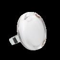 Bague en verre soufflée - Cachou Medium Milk
