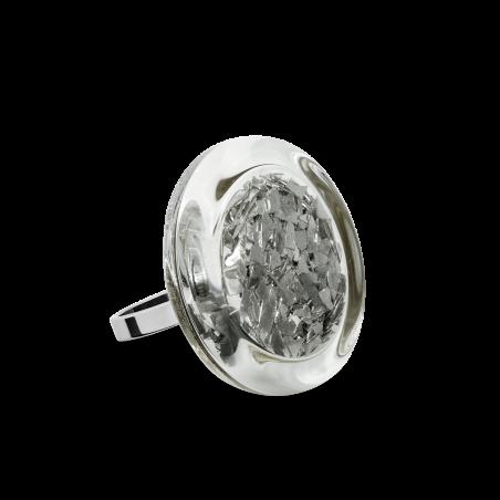 Anello in vetro - Cachou Mini Paillettes Nero