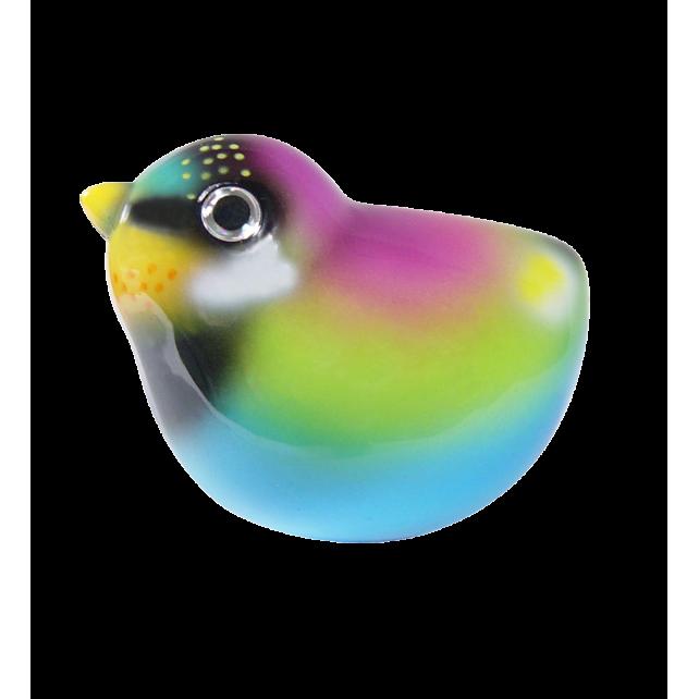 Magnetic bird for paperclips - Piu Piu Purple