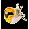 Magnetic bird for paperclips - Piu Piu Gouldian finch