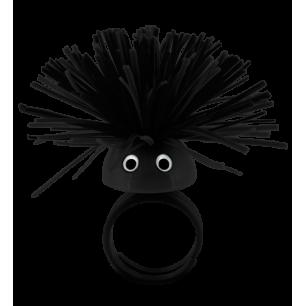 Ring - Pom Pom Girl Medium - Schwarz