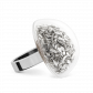 Glass ring - Dome Medium Paillettes