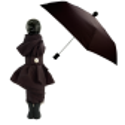 Compact umbrella - Rain Parade Black