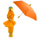 Rain Parade - Parapluie pliant Arancione
