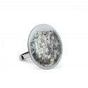 Glass ring - Galet Mini Paillettes