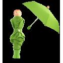 Rain Parade - Parapluie pliant Green