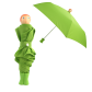 Compact umbrella - Rain Parade Orange