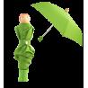 Rain Parade - Parapluie pliant Vert
