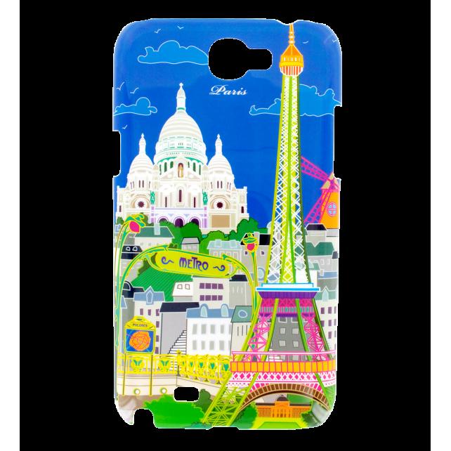 Coque pour Samsung N2 - Sam Cover N2 Paris Bleu