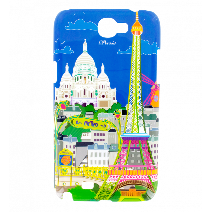 Case for Samsung N2 - Sam Cover N2 Paris Bleu