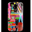 Coque pour Samsung Galaxy S4 - Sam Cover S4 Paris Bleu