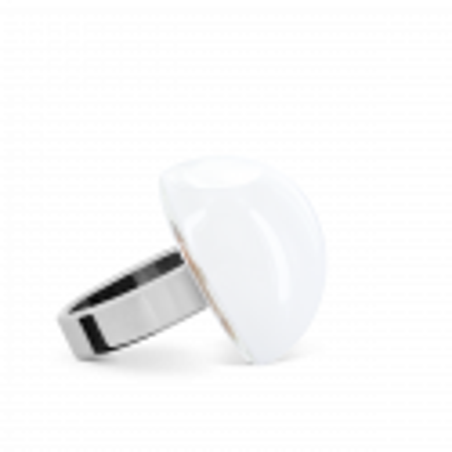 Bague en verre soufflée - Dome Mini Milk