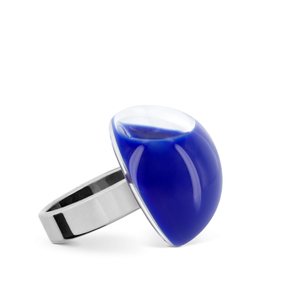 Anello in vetro - Dome Mini Milk