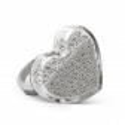 Glasring - Coeur Medium Billes