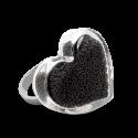 Glass ring - Coeur Medium Billes