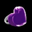 Bague en verre soufflée - Coeur Medium Milk