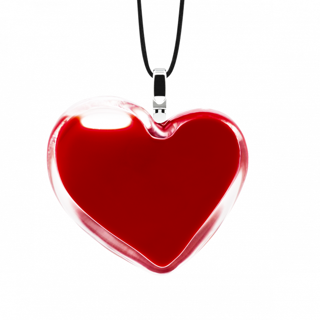 Necklace - Coeur Medium Milk