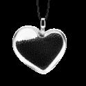 Necklace - Coeur Medium Billes Gold
