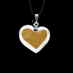 Necklace - Coeur nano billes