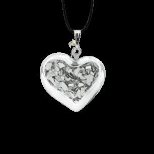 Necklace - Coeur nano paillettes