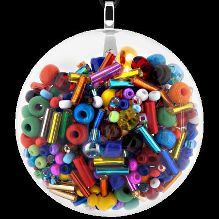 Necklace - Galet Giga Mix Perles Multicolor